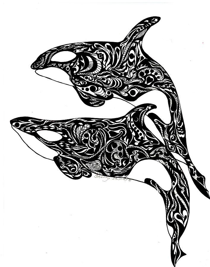 White Whale Drawings For Sale Zentangle Patterns