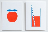 Crispin Finn - all work done in red, blue and white...