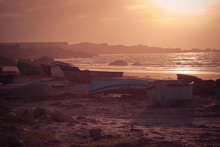 Hazey sunset