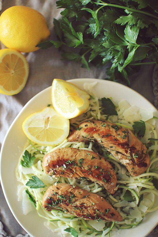 Clean Eating Crockpot Lemon Garlic Chicken