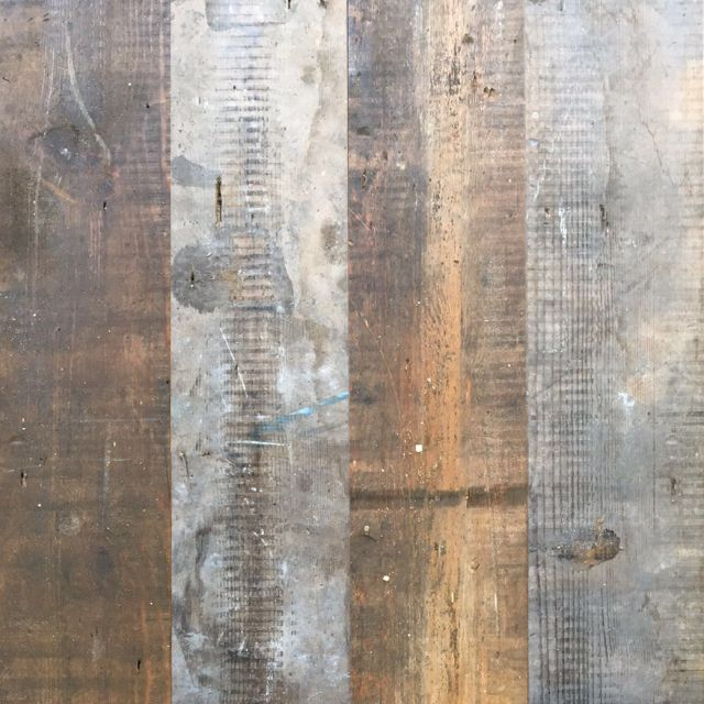 These boards are reclaimed from a 100 year old UK warehouses. These reclaimed boards are planed on three sides to leave one original face.