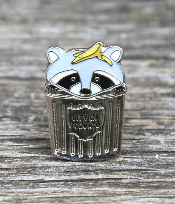 Trash Panda Raccoon Lapel Pin by crywolf on Etsy https://www.etsy.com/listing/295137461/trash-panda-raccoon-lapel-pin