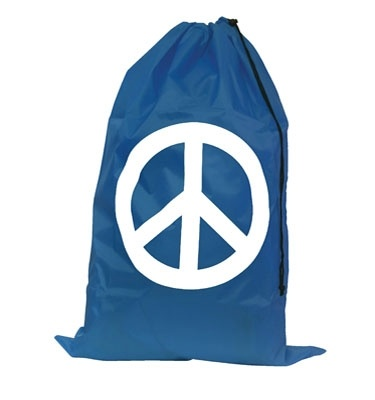Peace Symbol Laundry Bag - Navy Blue