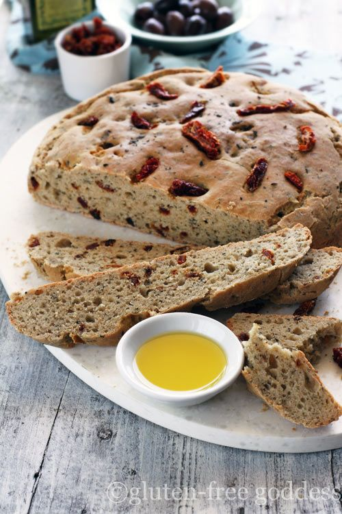 This is the best gluten free herbal bread recipe. Awesome for dipping into olive oil, etc.