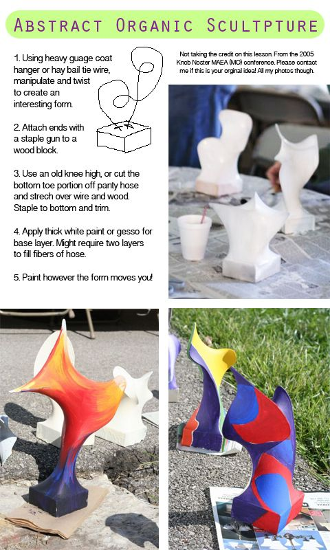 Great use for old panty hose and an exciting new 3D surface for kids to paint on. Needs parental/teacher involvement, as if that's a bad thing! Click through for more ideas. http://snibblesandbits.blogspot.com/2012/02/sunday-funday-throwback-lesson.html