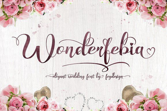 Wonderfebia - Script Wedding Font by feydesign on @creativemarket