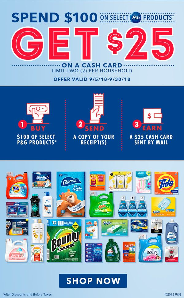 Free 25 Costco Cash Card P G Deal Coupons And Deals