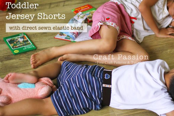 Toddler Jersey Shorts - tutorial and pattern....you just can't buy patterns anywhere anymore so these are great!