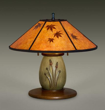 DUSK Ephraim Pottery Lamp, William Morris Studio, Mission Lighting