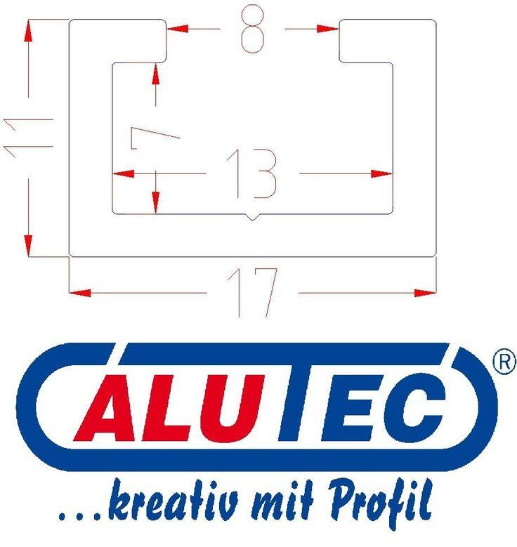 Aluminium C-Profil, eloxiert, Alu C Profil, Frästisch selber bauen, 1m 17x11mm