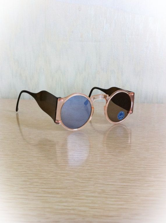 1940s Pink Sunglasses Round Crookes Lens Blinkers by ArtDecoDame, $25.00