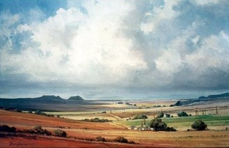 Free State landscape painted by SA artist John Smith
