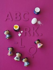 How fun are our new A-Z #eggcups by #luciekaas. Kids will love breakfast in the mornings with these.