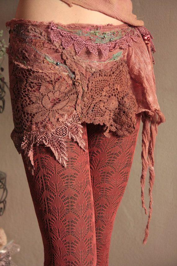 Cirkus Princess OOAK wearable art skirt/belt by FractalWings