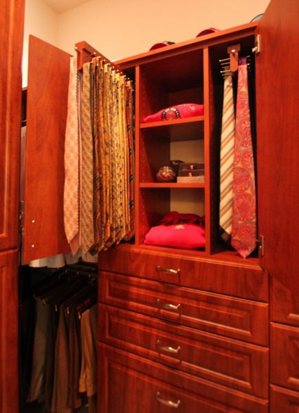 Custom Tie Storage By Closet Trends