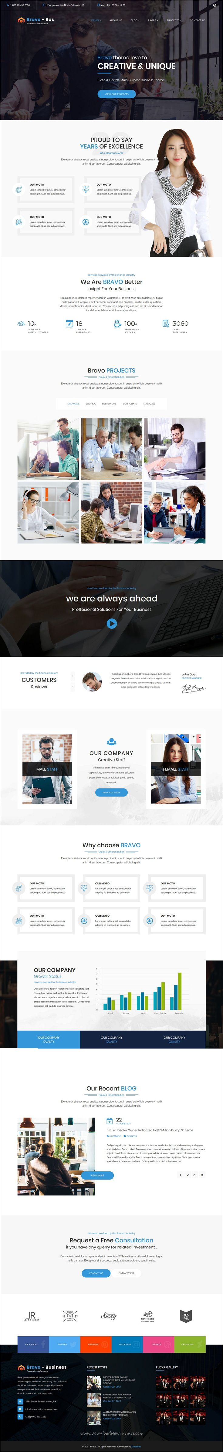 Bravo is clean and modern design 5+ responsive multipurpose #Joomla template for business #consultancy and professional services website to live preview & download click on Visit 👆