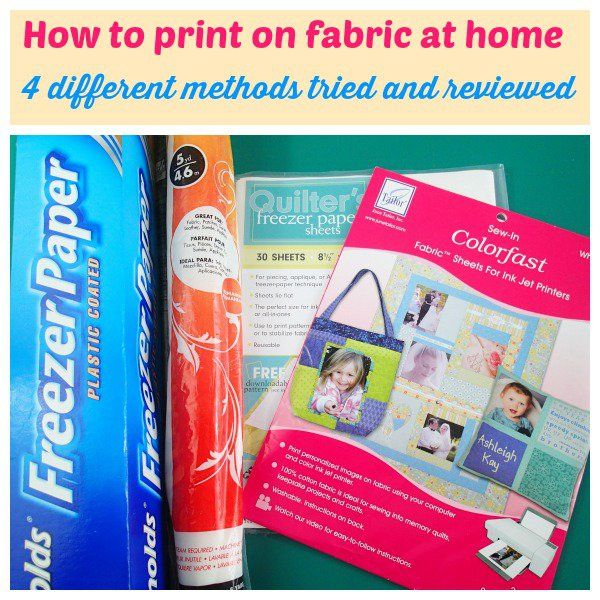 How to print on fabric at home - 4 different ways http://so-sew-easy.com/how-to-print-on-fabric-at-home/?utm_campaign=coschedule&utm_source=pinterest&utm_medium=So%20Sew%20Easy&utm_content=How%20to%20print%20on%20fabric%20at%20home%20-%204%20different%20ways