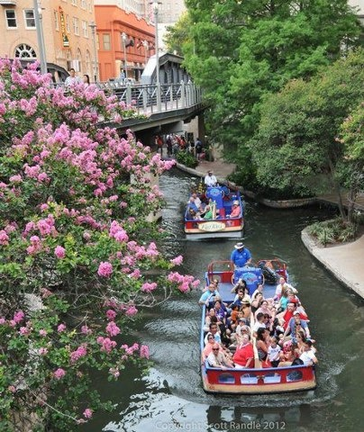 Tours of the San Antonio River Walk aboard a river cruiser are common, but did you know you can take a sunset taxi ride from downtown, along the Museum Reach, to the Pearl Brewery? It's true. Check out our top 5 things to do on the River Walk. (Photo by Scott R.)