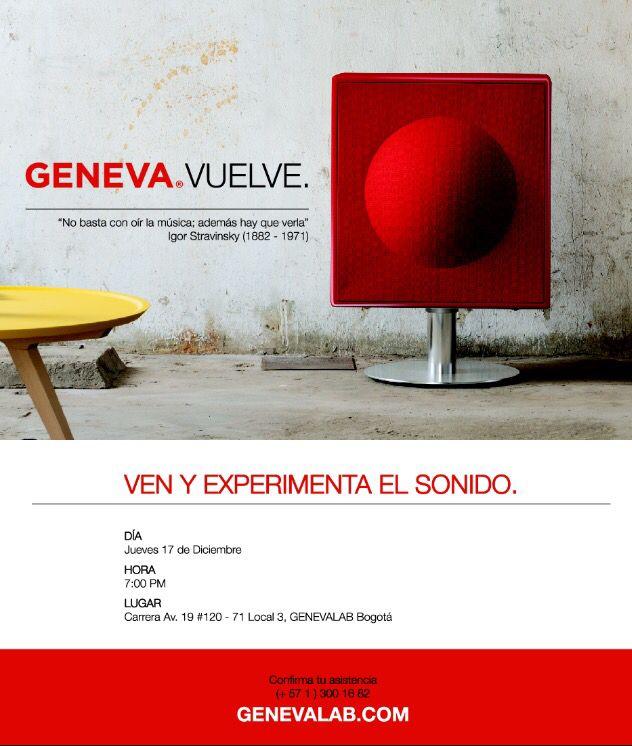 """@genevalab De nuevo en Colombia !!! """"No basta con oír la música, además hay que verla"""" Igor Stravisnky"""" (1882-1971)"""