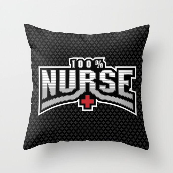 All Nurse Throw Pillow