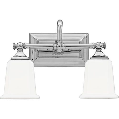 Quoizel Nicholas Polished Chrome Two Light Bath Light On SALE