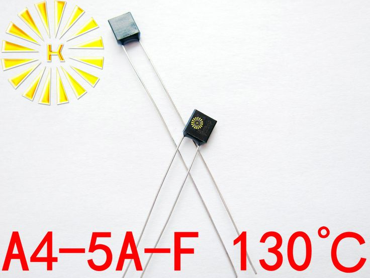 100% Original A4-5A-F 130 degree Thermal Cutoff RH130 Thermal-Links 5A 250V Black Square Temperature Fuse x 100PCS FREE SHIPPING