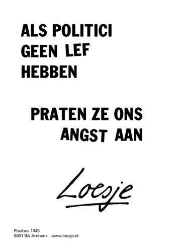 """FO3.2.2 ONBEKEND, """"Loesje: Als politici..."""", internet, Twitter, geraadpleegd op 22 mei 2017  Geert Van Herreweghe   6HWE3"""