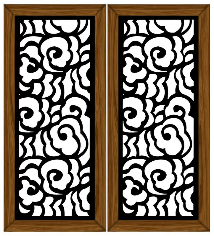 Laser cut door panel diy create a free website with for Door pattern design