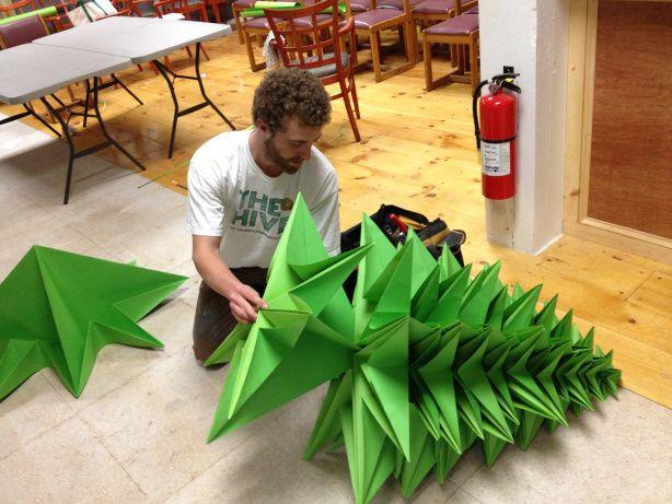 origami christmas tree Auf goodmorninggloucester.wordpress.com