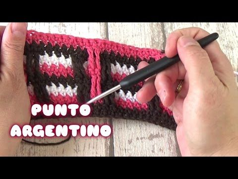 PUNTO CROCHET FACIL ARGENTINO | PUNTO FACIL DE GANCHILLO - YouTube