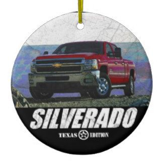 2013 Silverado 3500HD Crew Cab LT Texas Edition Ceramic Ornament