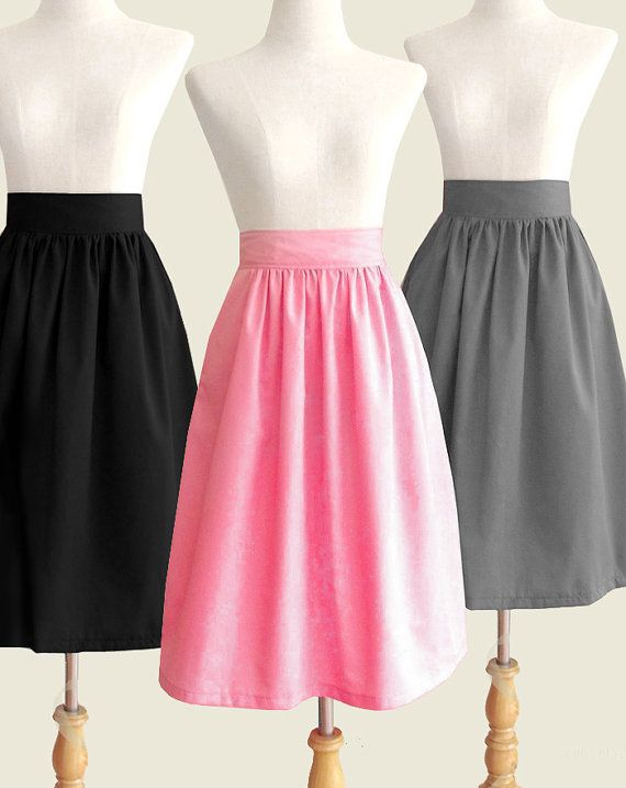 Fully lined cotton skirt on Etsy (long enough for my long legs!)