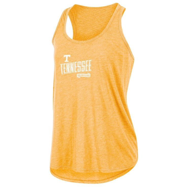 NCAA Women's Gameday Heathered Racerbank Soft Touch Poly Tank Top Tennessee Volunteers - M, Multicolored