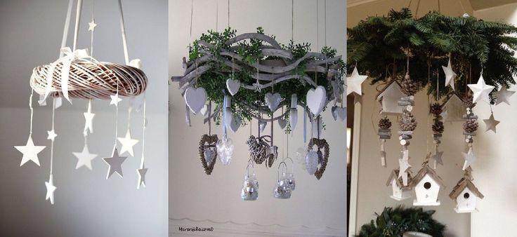 Meistens hängt man einen Kranz an die Türe aber man kann einen Kranz auch an der Decke aufhängen. An den Kranz kann man dann jegliche tollen Dinge hängen was gleich einzigartig aussieht. Daneben gibt es auch andere Möglichkeiten Dekoration im Haus aufzuhängen. Hier eine Reihe lustiger Ideen…