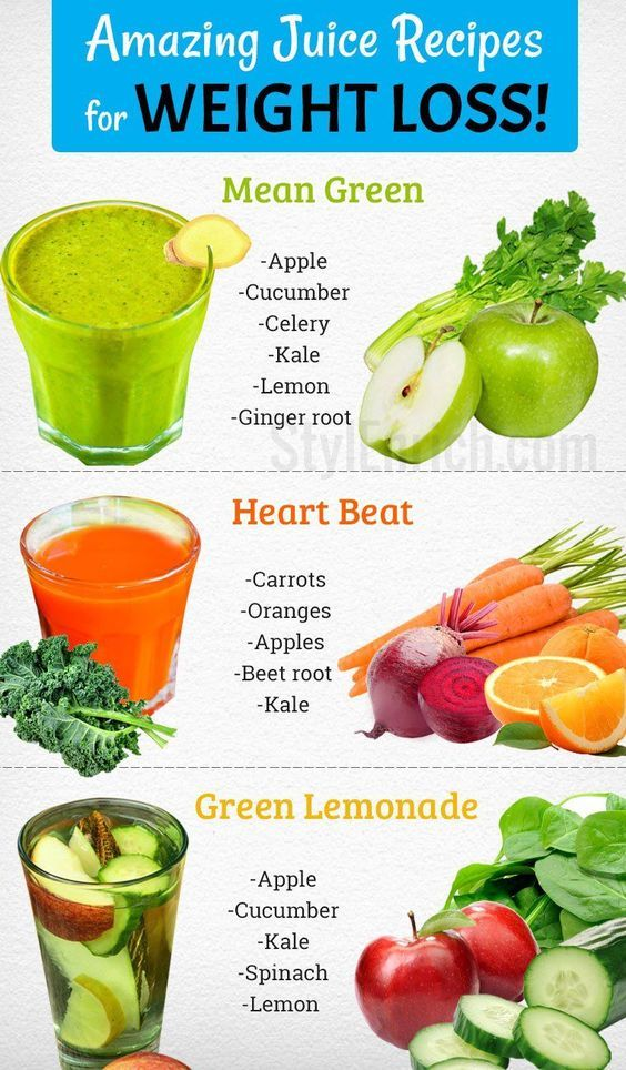 The Top 8 Juice Recipes For Weight Loss