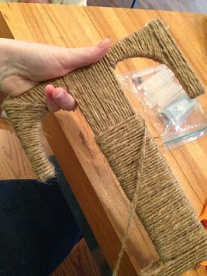 Talk of the Trains: Jute Letter and Burlap Flowered Wreath Tutorial
