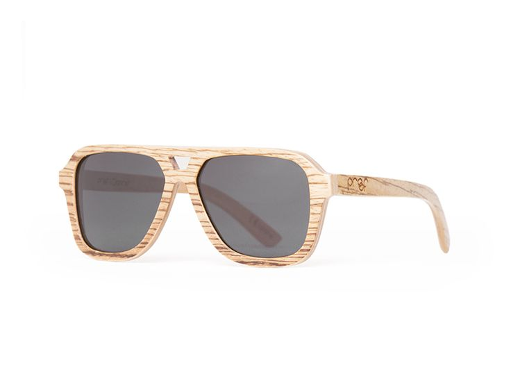 Proof wooden sunglasses - The Donner is a bigger wood aviator style frame, with a cut-out center piece which adds to the frames unique look. $189, Eco Guardian.