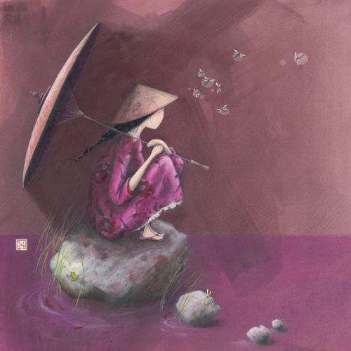"Gaëlle Boissonnard carte d'art carrée ""Contemplation"""
