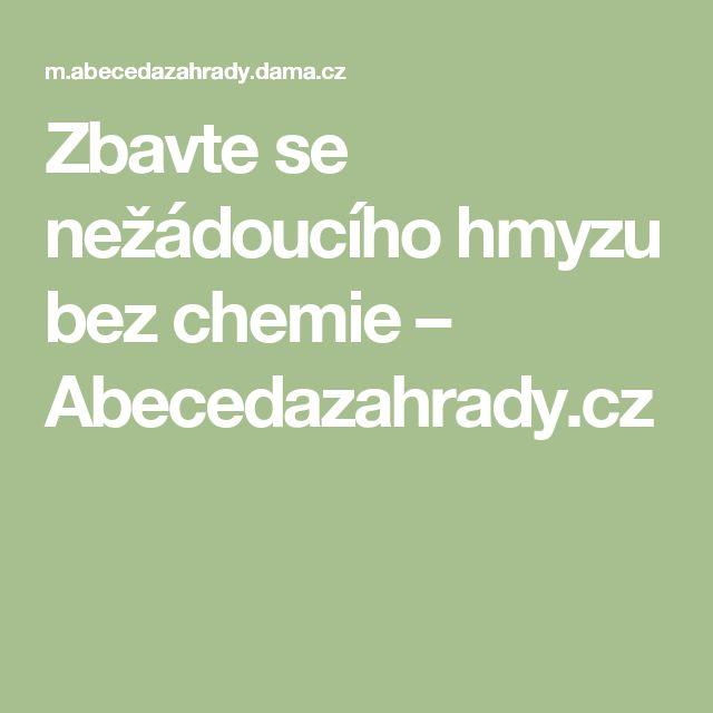 Zbavte se nežádoucího hmyzu bez chemie – Abecedazahrady.cz