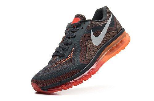 2014 men 621077-006 air max black white red orange sport running shoes