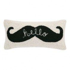 "Phi ""Hello Mustache"" Pillow"