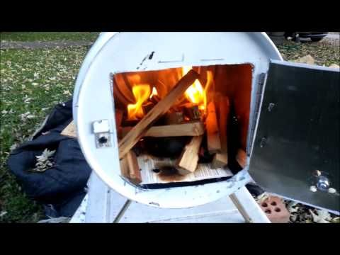 How to build a Portable wood stove / camping stove. - YouTube