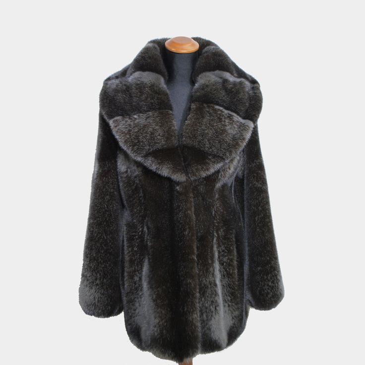 Magnificent Barguzin mink fur coat.
