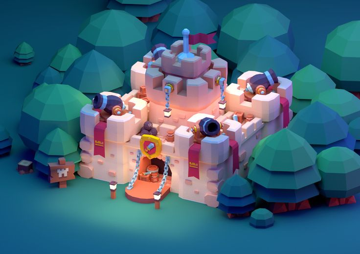 ArtStation - Low Poly Castle, Paul Chambers