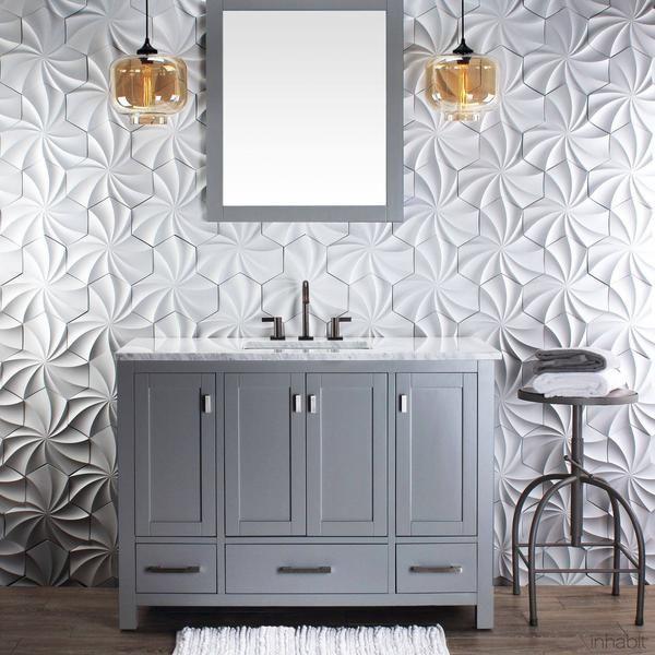Kaleidoscope Cast Architectural Concrete Tile - Primer White - - Outlet Cast Tiles - Inhabitliving.com - Inhabit - 5