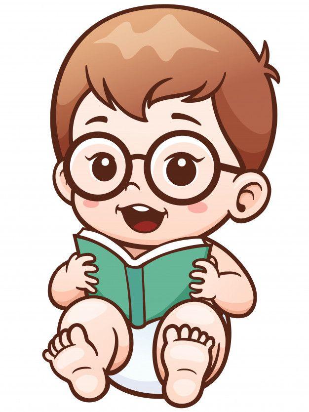Dibujos Animados Bebé Leyendo Un Libro V Free Vector Freepik Freevector Freebebe Freelibro Caricatura De Bebé Ilustración De Bebé Bebes Para Dibujar
