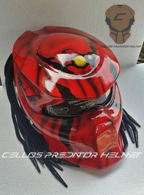 THE PREDATOR HELMET MOTORCYCLE DOT APPROVED | adi075777 -  on ArtFire