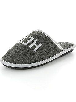 Zapatos, zapatillas - Zapatillas de casa estampadas - Kiabi