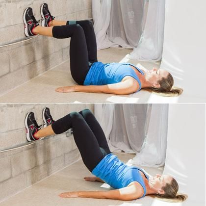 Strength Training Exercises: Hamstring Blasters - The Up-Against-the-Wall Workout - Shape Magazine - Page 6