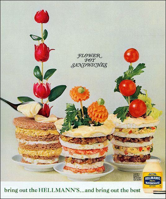 Flower Pot Sandwiches, 1963 by MewDeep, via Flickr